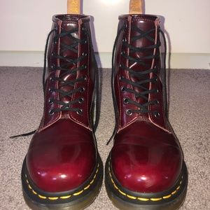 Dr. Martens Vegan 1460 Cherry Red Boot | Womens